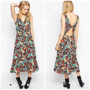 ASOS Tall floral midi dress without cutout front
